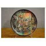Display Plate, Jungle Scene Hand Painted Accents
