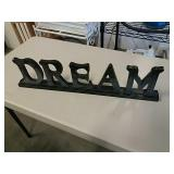 "Wooden Wall Sign "" Dream "", Decorative, 27"""