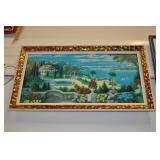Folk Art Picture, Bavarian Mountain Scene