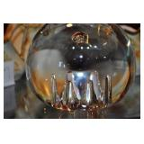 "Steuben Glass Paperweight, 4"" Globe"