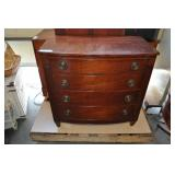 Chest Of Drawers With Writing Desk, Vintage