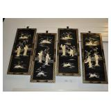 Chinoiserie Panels Of Asian Ladies,