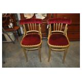 Pair Of Boudoir Room Sitting Chairs