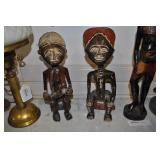 Carved  Wood  Sculptures, Vintage,