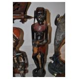 Aftrican Sculpture, Vintage, Carved Wood