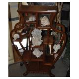 Vintage Burr Wood Display Stand