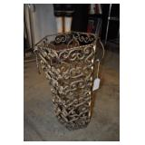 Metal Umbrella Basket, Vintage 18""