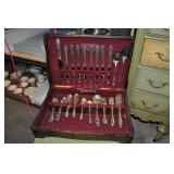 Silverplate Flatware Set, Vintage