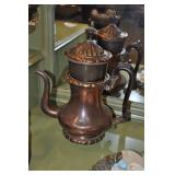 Victorian Antique Copper Coffe Pot - Tea Pot