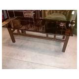 Coffee Table, Rectagle Glass Top With Molded