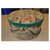 Oval Sewing Box With Contents