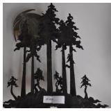 Small Steel Sculpture Of Forest, 24""