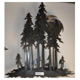 Large Steel Sculpture Of Forest, 37""