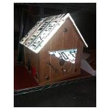 Large birdhouse, Washington license plates and
