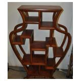 Curio Display Stand, Vintage, Burl And Rose Wood