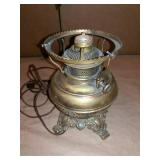 Electrified kerosene lamp base, no shade.8""