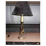 Small brass lamp 18""
