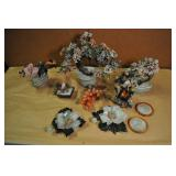 Chinese Glass Flower Art, Assorted