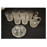 Crystal Dishes Assorted - Hobstar Pattern