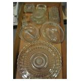 Glassware, Assorted Dishes, Cake Plate, Misc