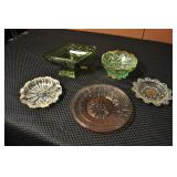 Vintage Glass Trinket Trays And Candy Dishes