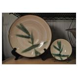 Genuine Stoneware Bowl Set, Bamboo Pattern