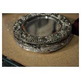 Miniature Dessert Plates Godinger Silver Art