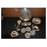 Silver Plated Serving Ware, Assorted