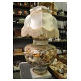 Seashell Lamp, Full Of Shells, Coral, Starfish,