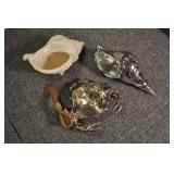 Crab And Seashells Sauce Bowl & Vases