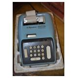 Signature Electric Adding Machine, Powder Blue
