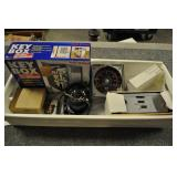 Assorted Box Lot, Key Box, Bicycle Mpg Guage,  +