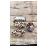 3 Pieces Imari  Asian Porcelain