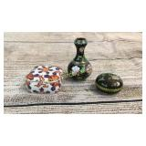 2 Cloisonné Miniatures, Imari Table Box