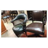 Leather Office Chair & Swivel Side Chair