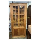 Vintage Yellow Pine Corner Cabinet