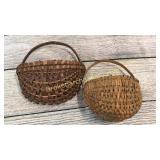 2 Split Oak Wall Pockets