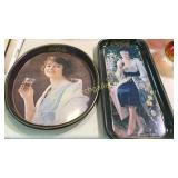 2 Reproduction Coca Cola Serving Trays