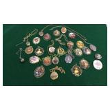 Group Assorted Costume Lockets, Broaches