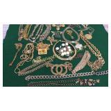 Group Goldtone Costume Jewelry