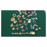 Group Costume Pins, Broaches