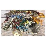 Group Hard Stone, Shell Bead Jewelry