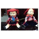 Pair Vintage Campbell Kid Dolls