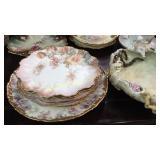 Porcelain Cabinet Plates, Bowls, Majolica Bowl