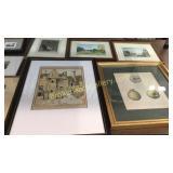 11 Pieces Varied Framed Art