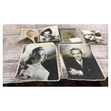 6 Pieces Autographed Movie Star Memorabilia