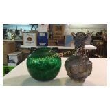 Imperial Carnival Glass Vase, Greene Bowl