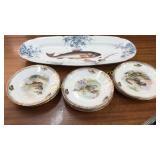 Austrian Porcelain Fish Set