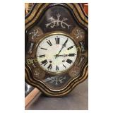 Mother of Pearl Inlid Wall Clock