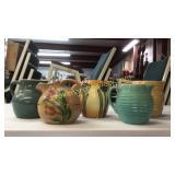 6 Pottery Pitchers